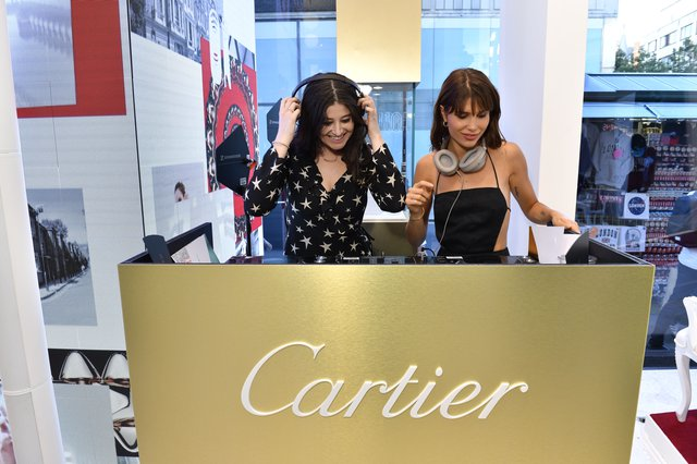 Maybe Baby DJing at Cartier Event
